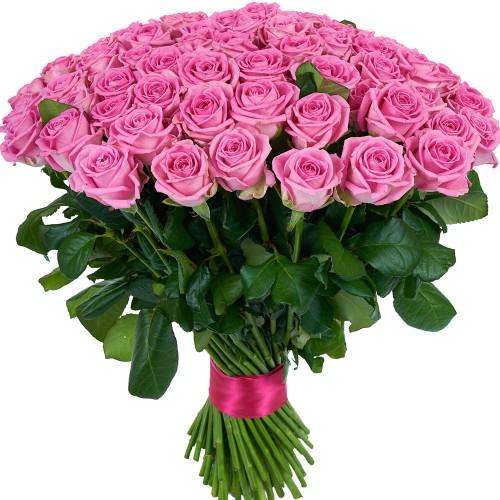 Купить на заказ Букет из 101 розовой розы с доставкой в Сарыагаше