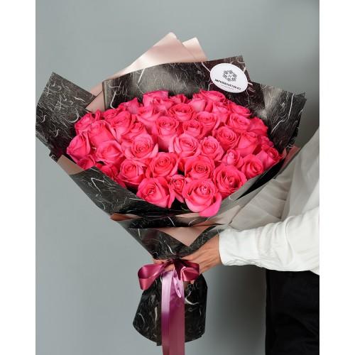 Купить на заказ Букет из 51 розовых роз с доставкой в Сарыагаше