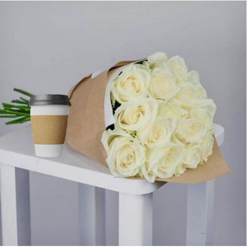 Купить на заказ Кофе с цветами с доставкой в Сарыагаше