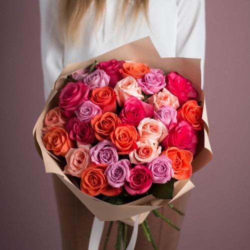 Купить на заказ Букет из 25 роз (микс) с доставкой в Сарыагаше