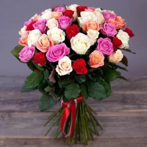 Купить на заказ Букет из 31 розы (микс) с доставкой в Сарыагаше